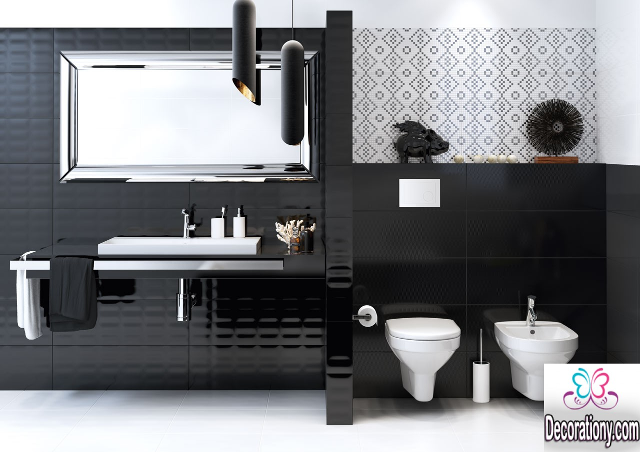 20 creative black and white bathroom ideas decoration y for Black modern decor