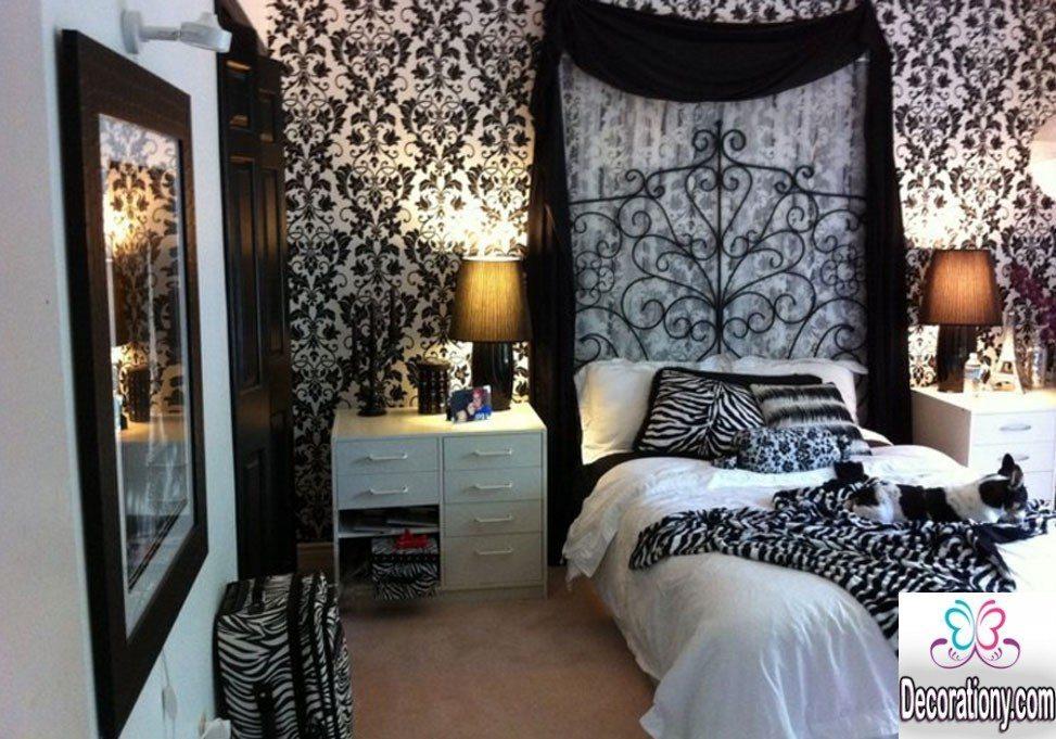 modern black & white bedroom