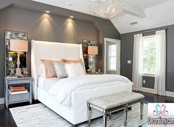 25 inspiring master bedroom ideas decoration y for Grey and white bedroom designs