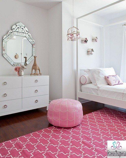 modern teen girls room