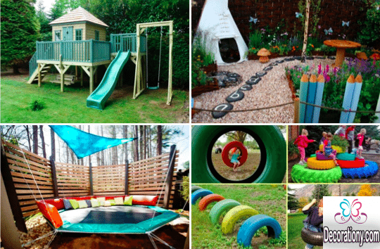 15 fun small garden ideas for kids decor or design for Play yard plans