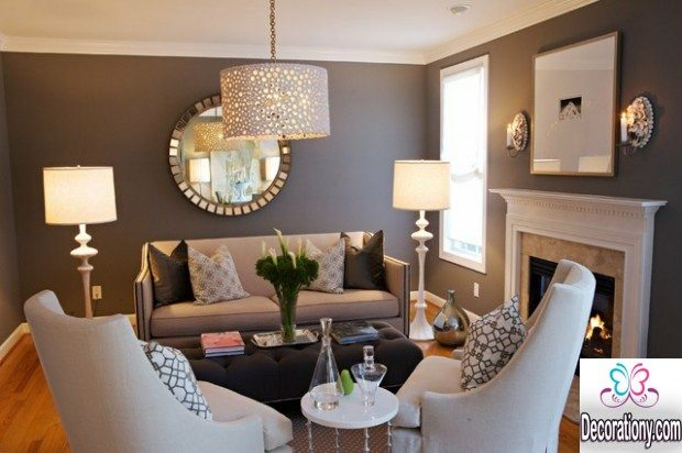 small grey living room