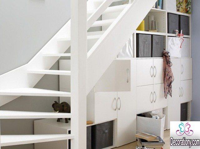 storage ideas for under stairs