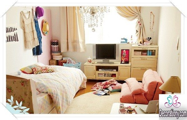 Simple Girls Room Design Pink