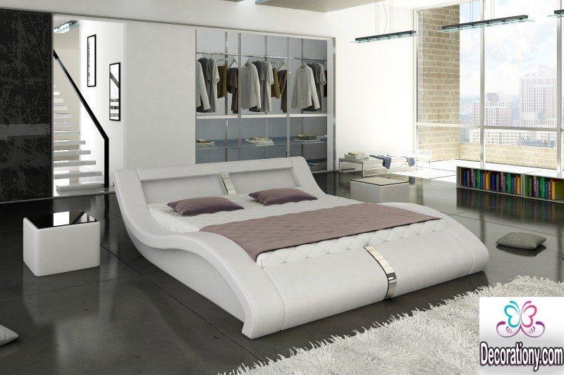 white bed design