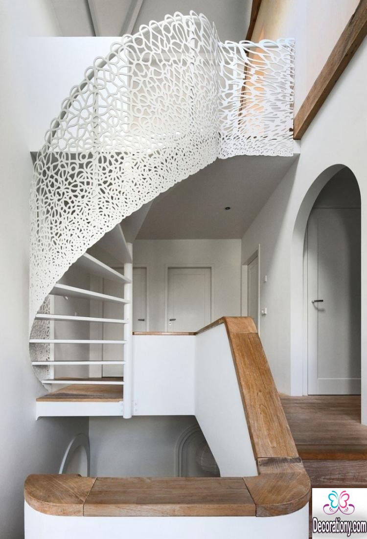 white stairs design