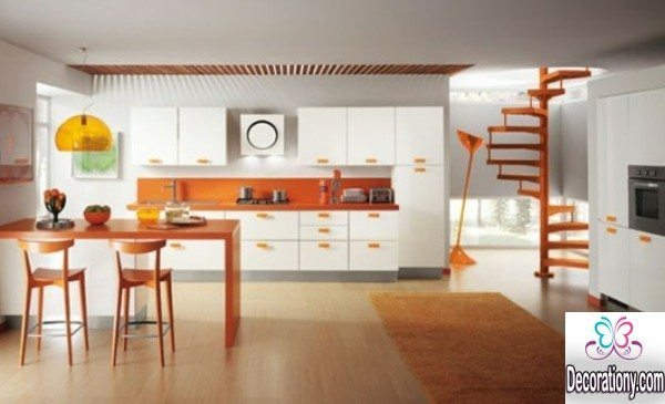 Orange kitcheninterior design