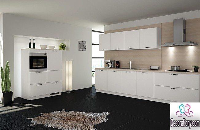 White Kitchens With Dark Floors