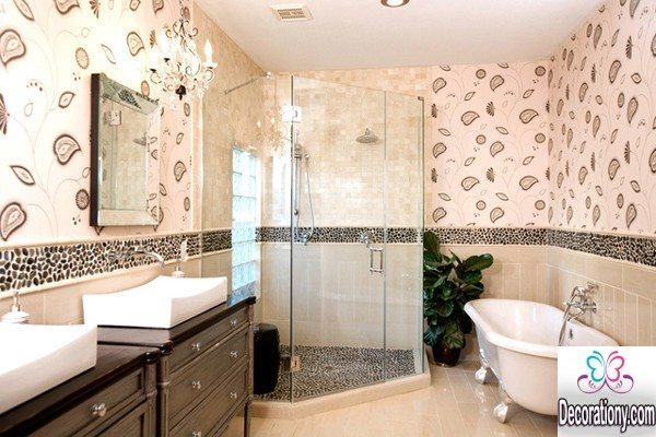 30 beautiful bathrooms tiles designs ideas decoration y for Bathroom walls designs
