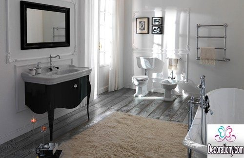 black and white bathroom idea