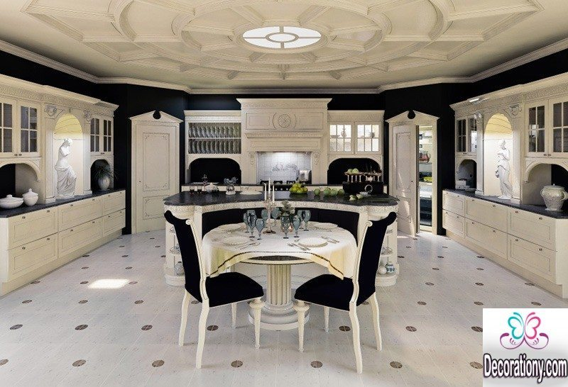 black and whute luxury kitchens