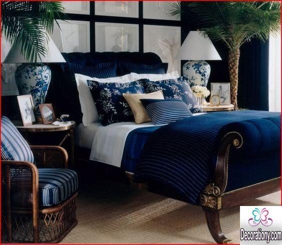 blue bed design