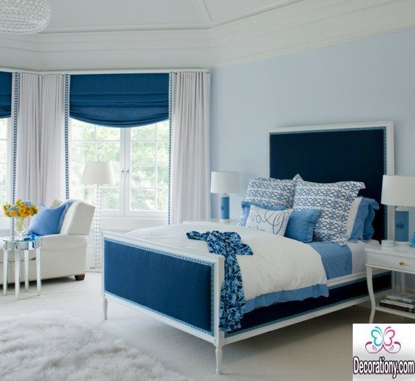 blue bedrooms decorating
