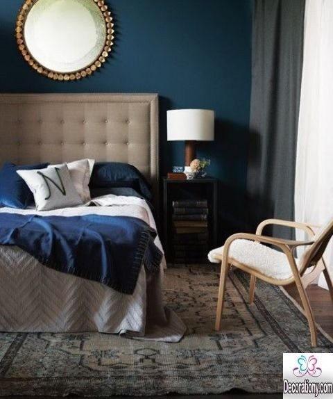 blue bedrooms wall painting