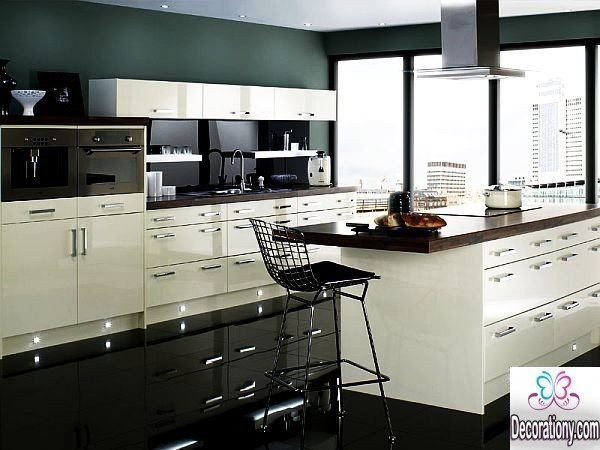 contemporary white kitchens
