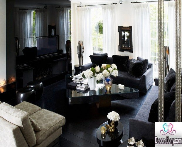 dark floors living room