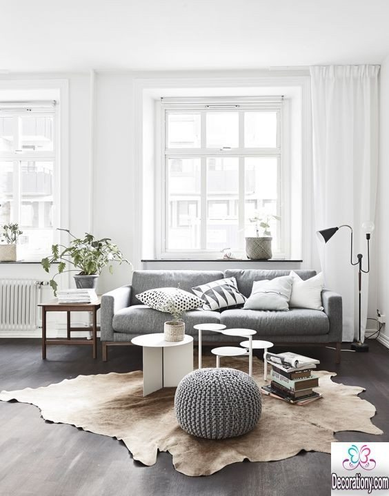gray living room floor