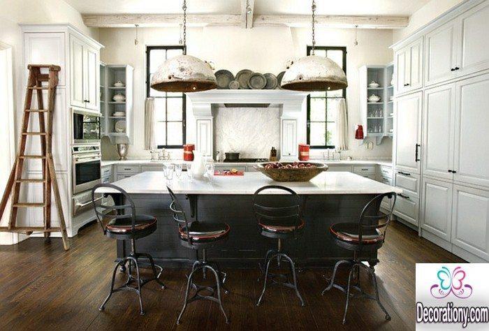kitchen with dark floor