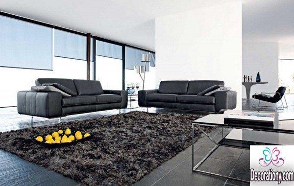 living room dark floor