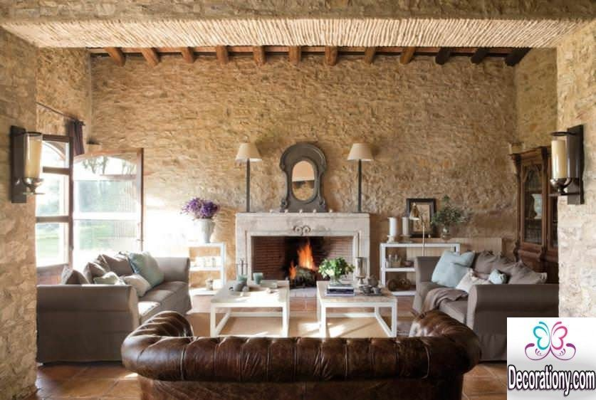 living room rustic