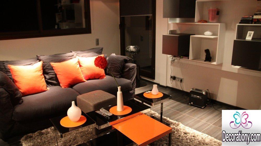 living room with dark floor