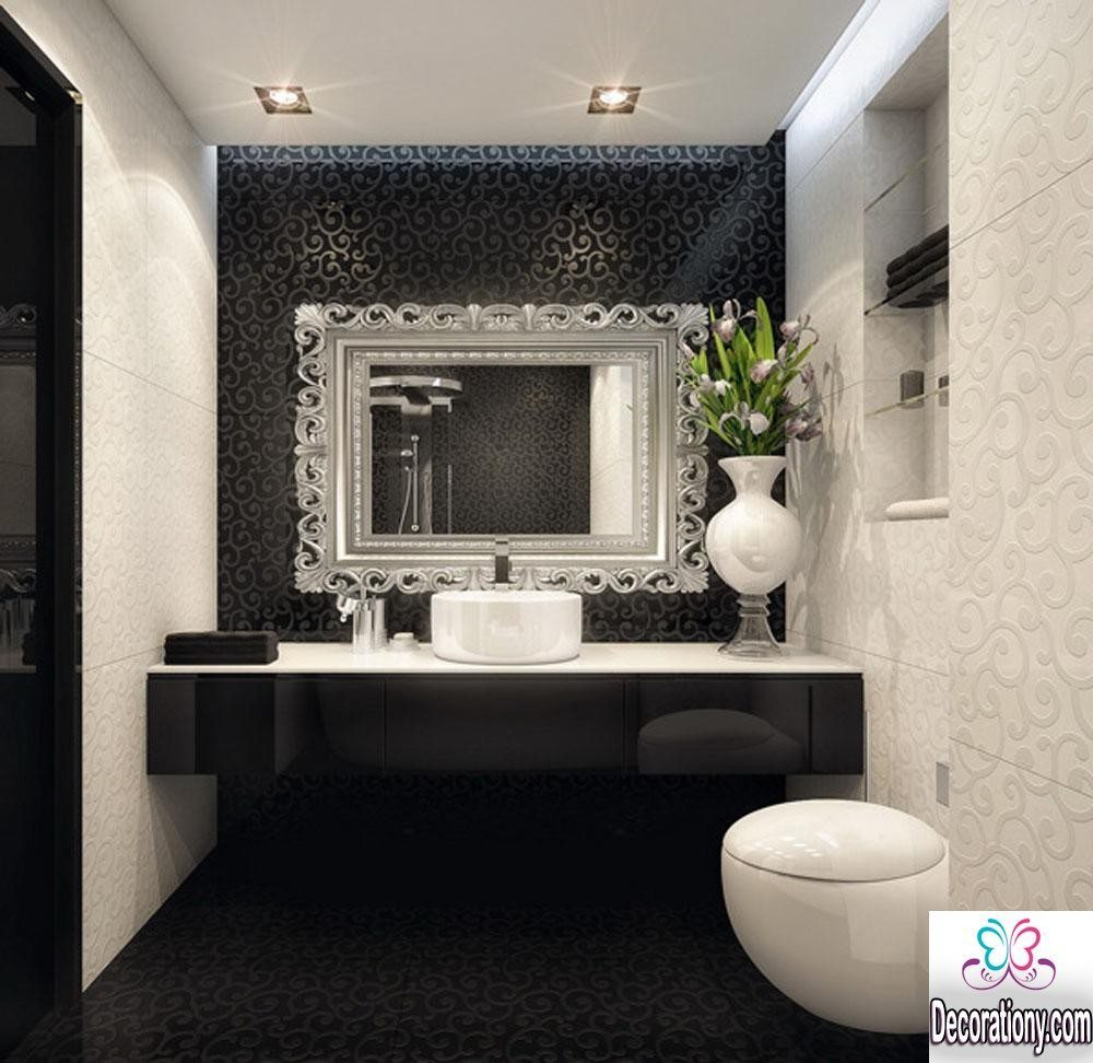 Best 15 modern bathroom design trends 2016 bathroom for Black and white bathroom sets