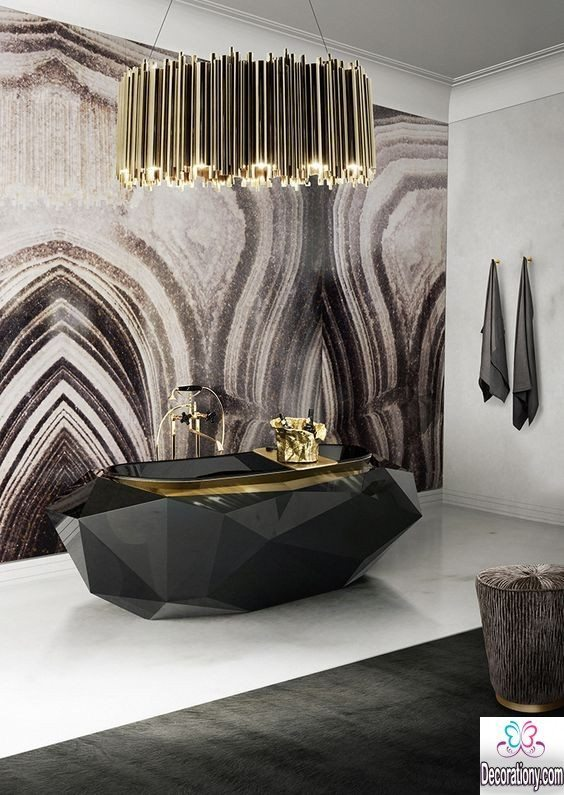 luxury black bathroom