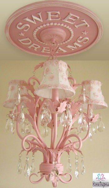 modern Pink Chandelier