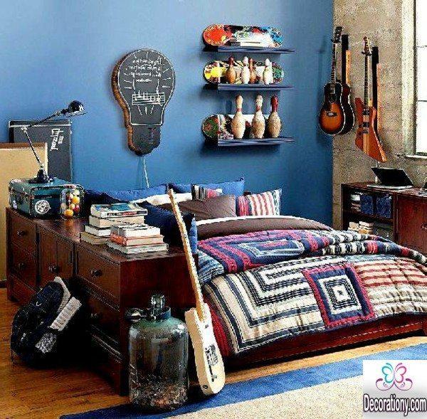 modern blue bedrooms for teens