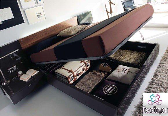 modern storage bed design