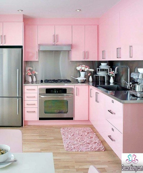 pink kitchen decor