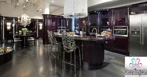 purple kitchen design