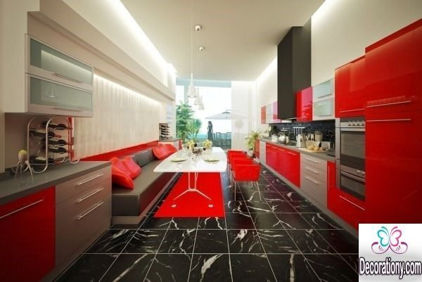 red kitchen decorating