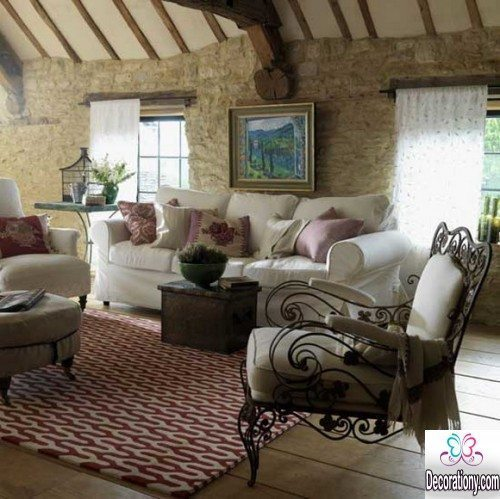 rustic living room decorating