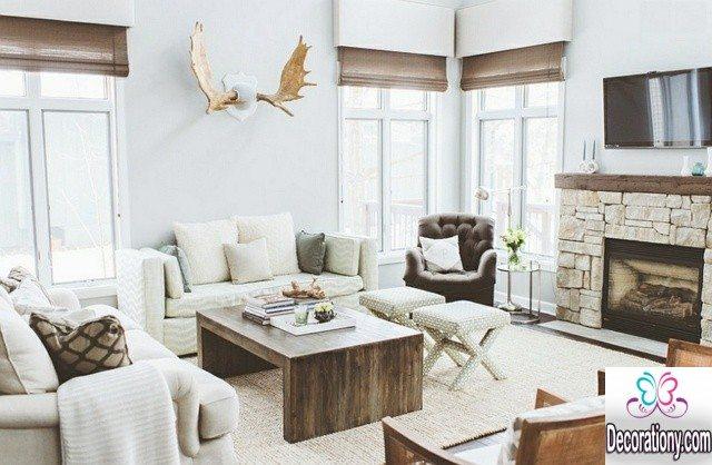 rustiv living room decorating ideas