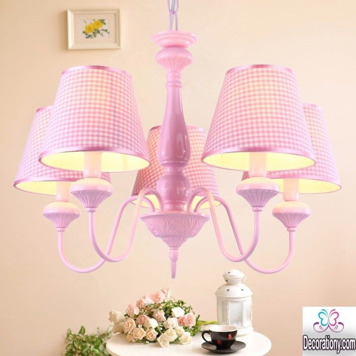 simple pink chandeliers