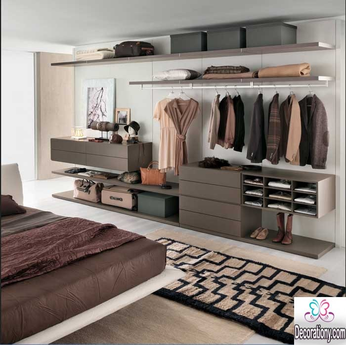Best small bedroom ideas and smart storage units bedroom for Storage ideas for small bedrooms with no closet