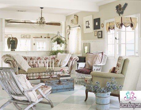 unique vintage living room