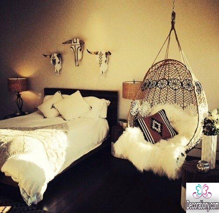 vintage bedroom style'