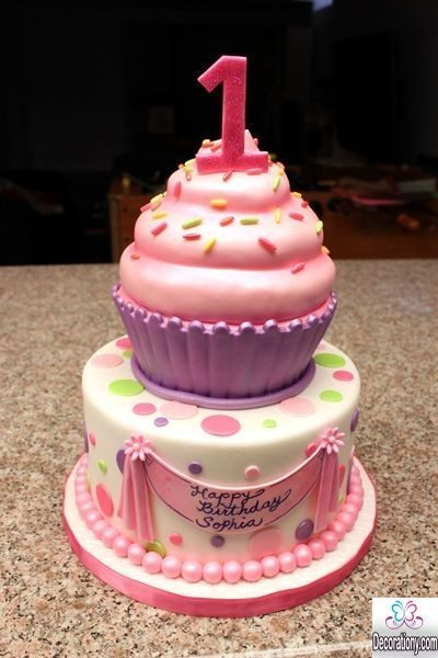 1st Birthday Cupcake Cakes for girls