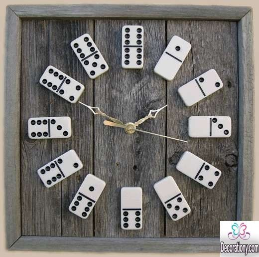 DIY Domino Clocks
