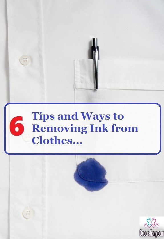 removing ink from clothes