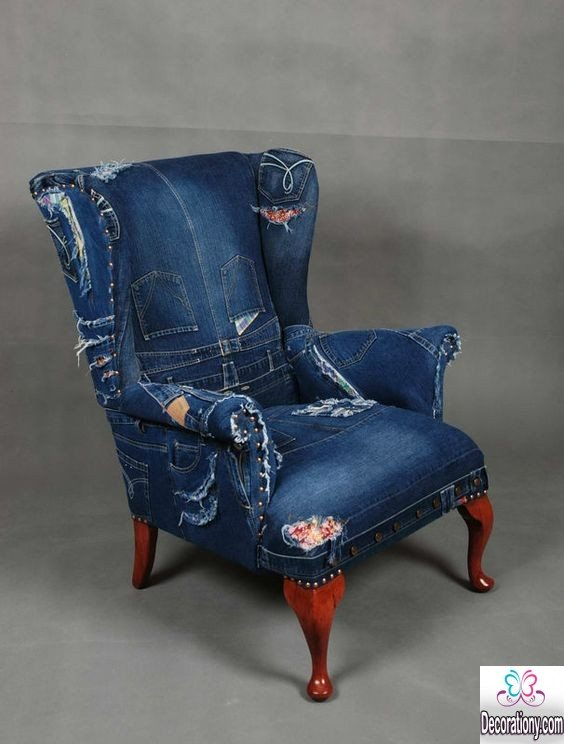 Jeans patchwork chair