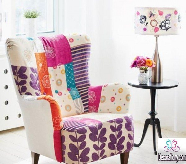Patchwork living room chair design