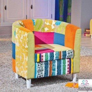 Patchwork living room chair