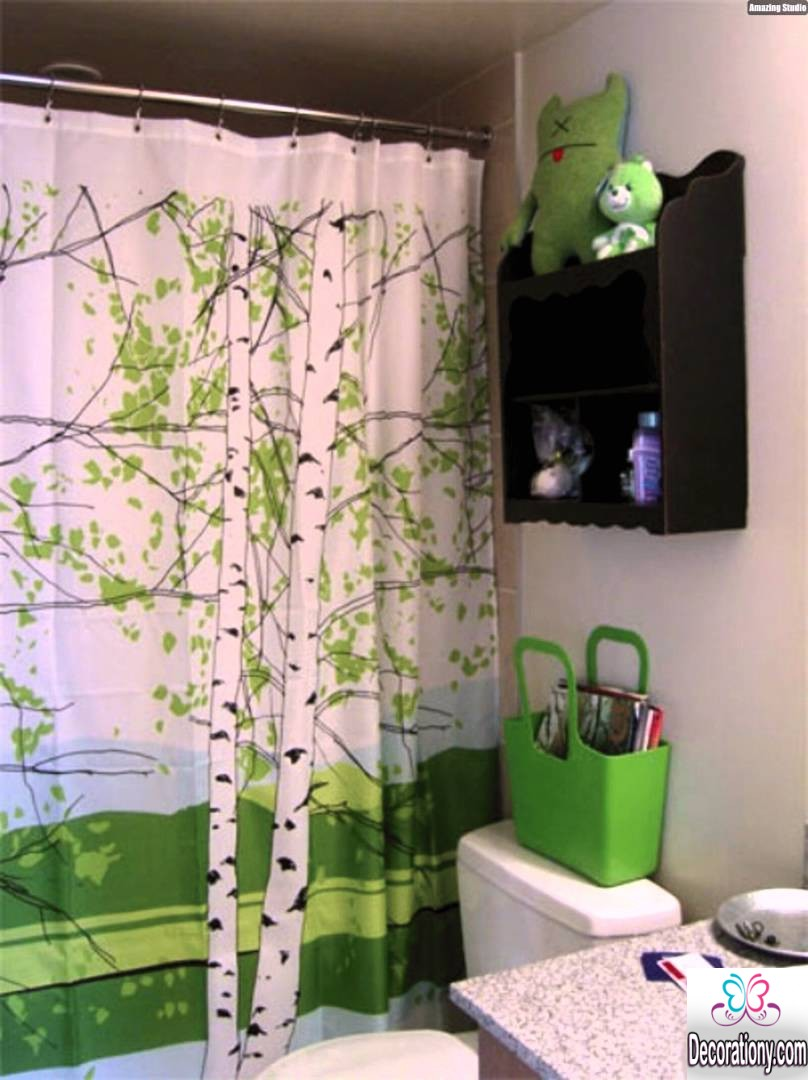 bathroom shower curtain design