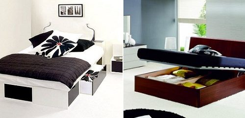 decorative bed storage ideas for small spaces apartment
