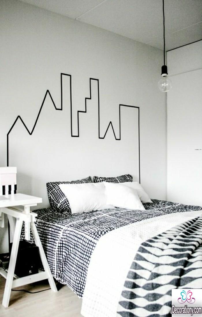 bedroom wall headboard design ideas