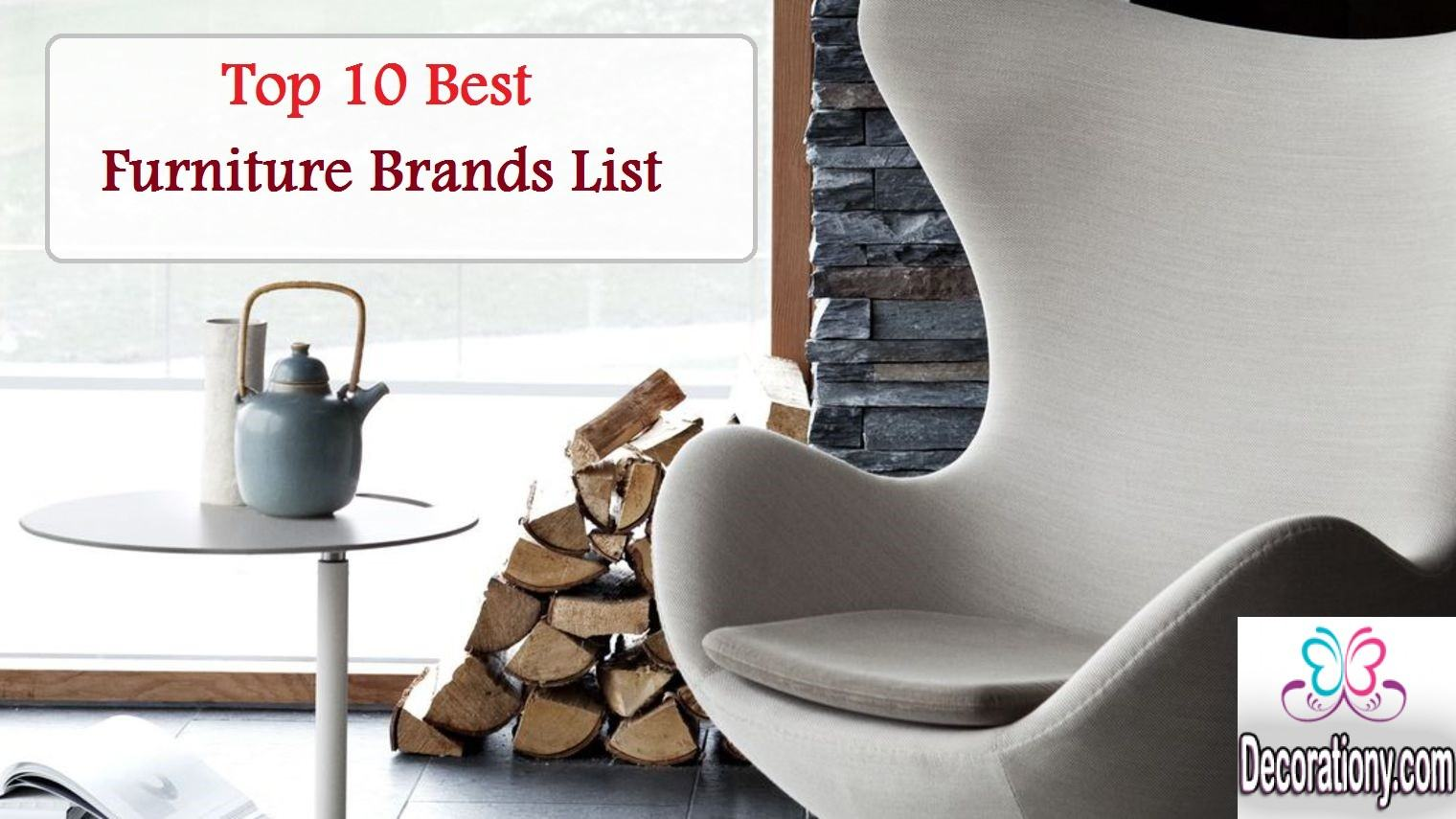 best furniture brands list 2016/2017