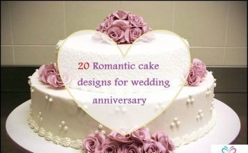 cake designs for wedding anniversary